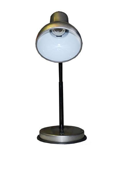 72000.04.03.01 - Лампа настольная серебр. металлик на основе средн. Е27
