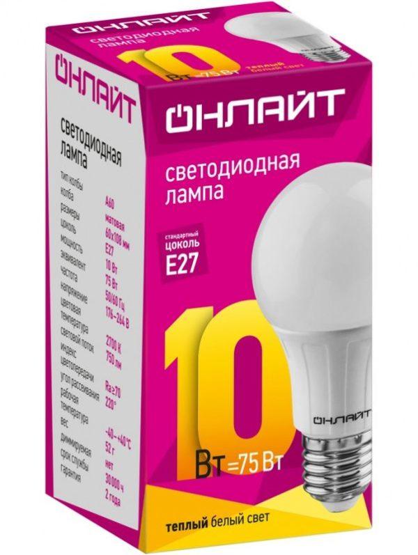 a432532cfc07eed3732c95fd272d017f 600x797 - Лампа LED ОНЛАЙТ A60 10W 2700К E27